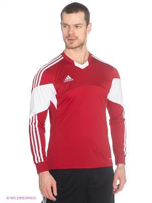 Лонгслив Adidas. Цвет: красный, белый