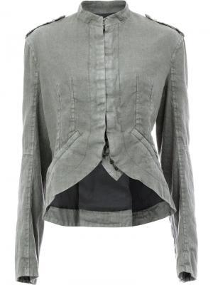 Куртка с закругленным краем Haider Ackermann. Цвет: серый
