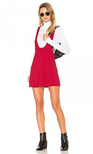 Платье ceci Lucca Couture. Цвет: вишня