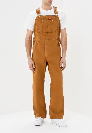 Комбинезон джинсовый Dickies. Цвет: коричневый