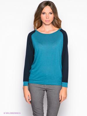 Лонгслив American Outfitters. Цвет: морская волна, темно-синий