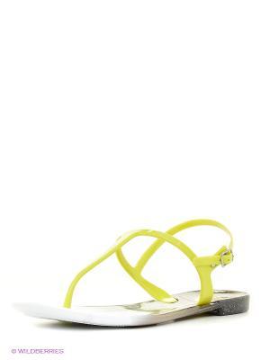 Сандалии Mon Ami. Цвет: желтый, черный