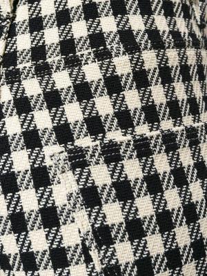 Клетчатые брюки стандартного кроя Wales Bonner. Цвет: чёрный