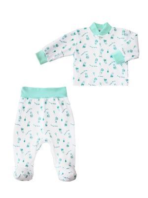 Комплект одежды: кофточка, ползунки Коллекция Happy Bunny КОТМАРКОТ. Цвет: зеленый