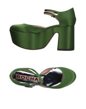 Туфли ROCHAS. Цвет: зеленый