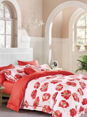 Комплект постельного белья ROMEO AND JULIET. Цвет: светло-коралловый, красный