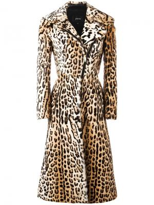 Leopard print long coat Jitrois. Цвет: коричневый