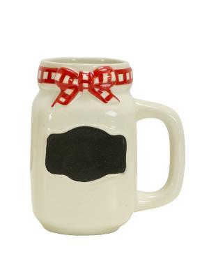 Кружка BBQ Masin Jar BOSTON. Цвет: белый