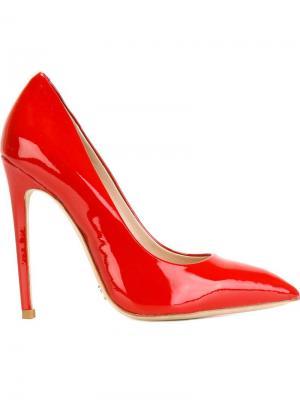 Туфли с заостренным носком Gianni Renzi. Цвет: красный