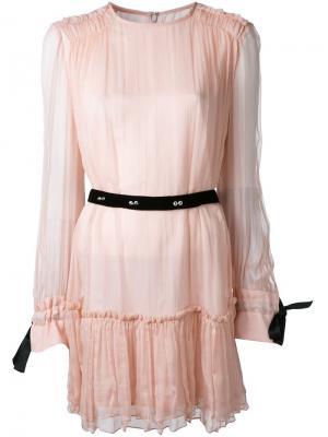 Платье мини Les Marais Manning Cartell. Цвет: розовый и фиолетовый