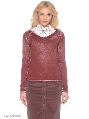 Пуловер LERROS. Цвет: темно-красный