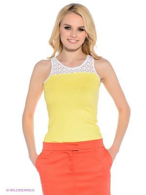 Топ F5. Цвет: желтый, белый