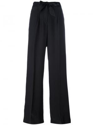 Расклешенные брюки Equipment. Цвет: чёрный