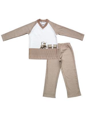Комплект одежды Мамуляндия. Цвет: бежевый