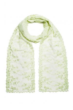 Кружевной шарф 160164 Plauener Spitze. Цвет: зеленый