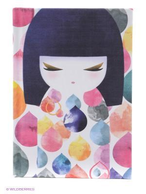 Записная книжка Михоко Kimmidoll. Цвет: розовый, белый, синий