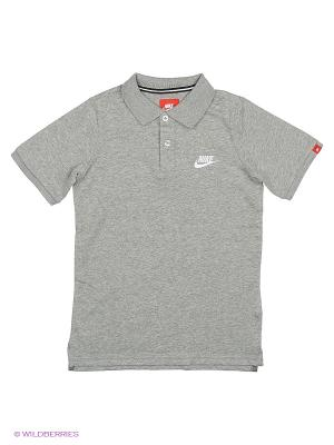 Футболка-поло FRANCHISE J POLO YTH Nike. Цвет: серый, серебристый, серо-зеленый