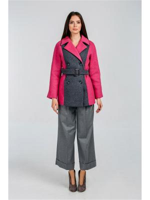 Пальто Exalta. Цвет: серый, розовый