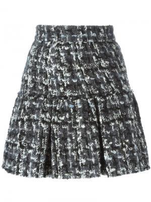 Буклированная юбка мини Dolce & Gabbana. Цвет: чёрный