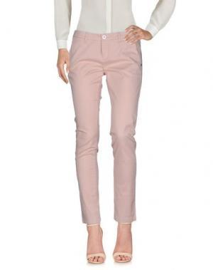 Повседневные брюки TRĒZ. Цвет: розовый