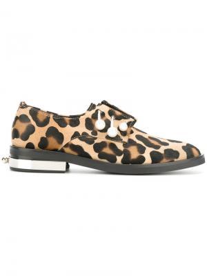 Animal print shoes Coliac. Цвет: телесный