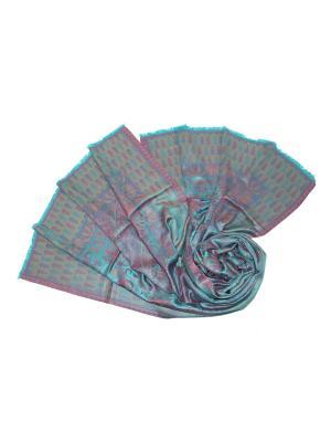 Палантин Ethnica. Цвет: лазурный, розовый, салатовый