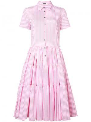 Платье-рубашка в полоску Jourden. Цвет: розовый и фиолетовый