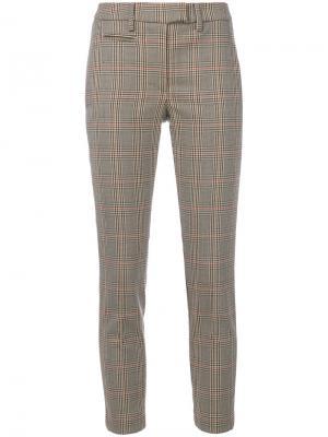Укороченные брюки в ломаную клетку Dondup. Цвет: телесный