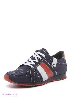 Ботинки Walrus. Цвет: синий, белый, красный