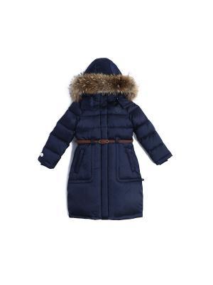 Пальто зимнее пуховое NELS. Цвет: темно-синий