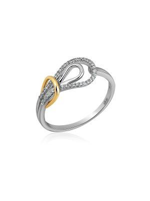 Кольцо Бронницкий ювелир. Цвет: серебристый, золотистый