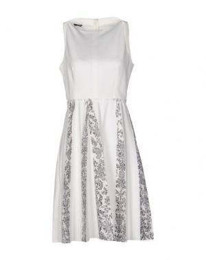 Короткое платье PF PAOLA FRANI. Цвет: белый