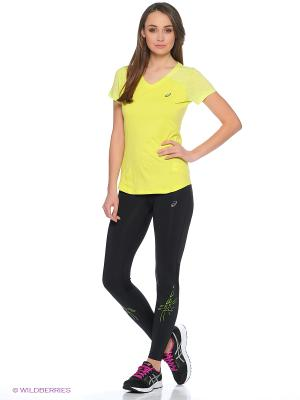 Футболка fuzeX V NECK SS TOP ASICS. Цвет: светло-желтый