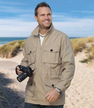 Куртка AFM. Цвет: бежевыи