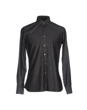 Джинсовая рубашка ALEA. Цвет: стальной серый