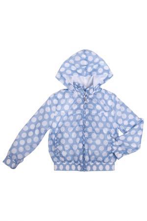 Куртка Gulliver. Цвет: голубой в белый горох