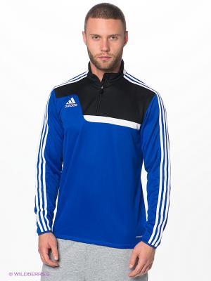 Лонгслив Adidas. Цвет: синий, белый, черный