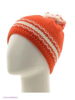 Шапка FOMAS. Цвет: оранжевый, молочный