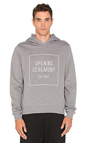 Худи oc logo Opening Ceremony. Цвет: серый