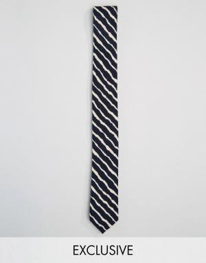 Reclaimed Vintage Черный галстук в полоску Inspired. Цвет: черный