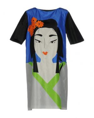 Короткое платье GIULIA ROSITANI. Цвет: синий
