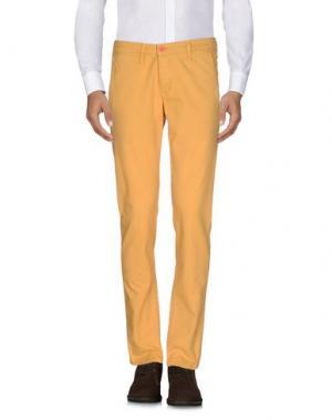 Повседневные брюки ZERO. Цвет: желтый