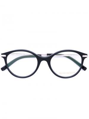 Очки с овальной оправой Boucheron. Цвет: чёрный