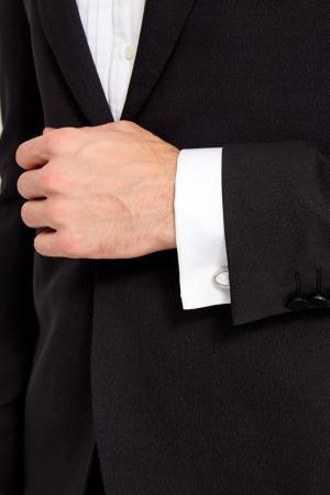 Стальные запонки с белым жемчугом Canali. Цвет: серый