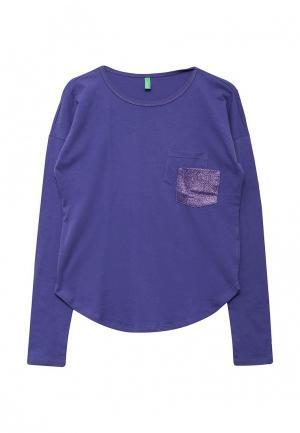Лонгслив United Colors of Benetton. Цвет: фиолетовый