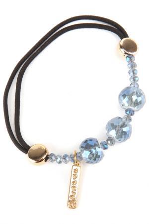Резинка Asavi Jewel. Цвет: голубой, черный, золотой