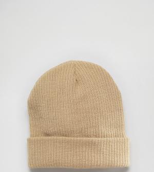 Reclaimed Vintage Свободная шапка-бини песочного цвета. Цвет: бежевый