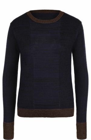 Пуловер прямого кроя с круглым вырезом By Malene Birger. Цвет: темно-синий