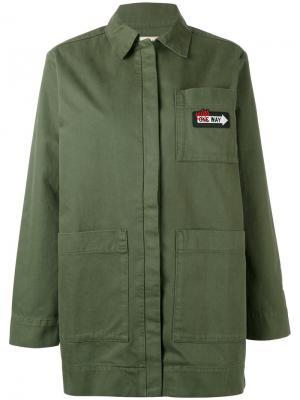 Свободная куртка-рубашка Être Cécile. Цвет: зелёный