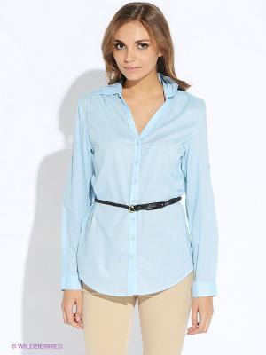 Блузка Oodji. Цвет: светло-голубой